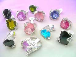 high quality cz stone rings