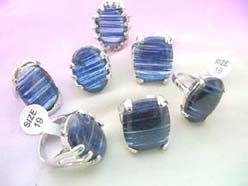 glass lines rings in blue color