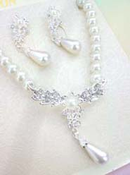 Wedding Bridal Jewelry Necklace Earrings Set