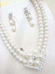 wedding bridal accessory fashion jewelry, necklace earring set