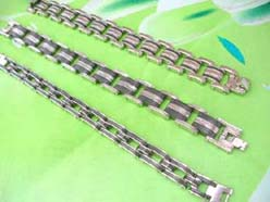 wholesale punk jewelry organic stainless steel bracelet link chain