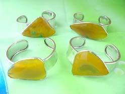 natural gemstone bangle cuff, yellow agate genuine gemstone from Brazil
