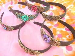 wholesale headband lady's hair fashion with cz