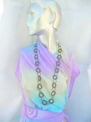 high fashion necklace color loops
