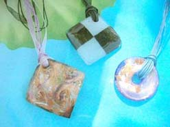 handmade lampwork murano glass pendant ribbon chokers necklaces
