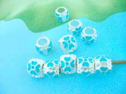 blue enamel beads charms for pandora bracelets