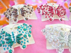 rhinestone hair accessories butterfly design hairties