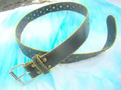 Fashion black belt with mini golden ball design