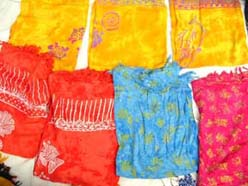 Stamped assorted fancy sarong