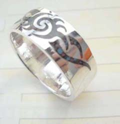 Collectible stamped 925 sterling silver tattoo sun ring