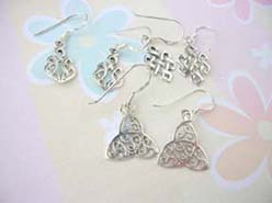 Fashion silver celtic earrings, Thailand 925 sterling silver earring